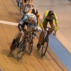 20-12-2015: Wielrennen: NK Baan: Alkmaar<br />ALKMAAR (NED) baanwielrennen<br />Roy Pieters (witte helm) pakt de titel bij de mannen op de scratch