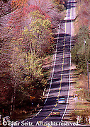 Road in Fall, Cook Forest State Forest and Cook Forest State Park, Clarion County, Forest County, Jefferson County, NW PA