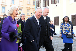 14.03.2016, Zagreb, CRO, der Britische Kronprinz Charles und seine Frau Camilla besuchen Kroatien, im Bild British Crown Prince Charles and his wife Camilla, the Duchess of Cornwall, are visiting Croatia as part of a regional tour that will include Serbia, Montenegro and Kosovo. They visited the historic Upper Town and restoration of buildings that were damaged during bombing in 1991. EXPA Pictures © 2016, PhotoCredit: EXPA/ Pixsell/ Goran Stanzl<br /> <br /> *****ATTENTION - for AUT, SLO, SUI, SWE, ITA, FRA only*****