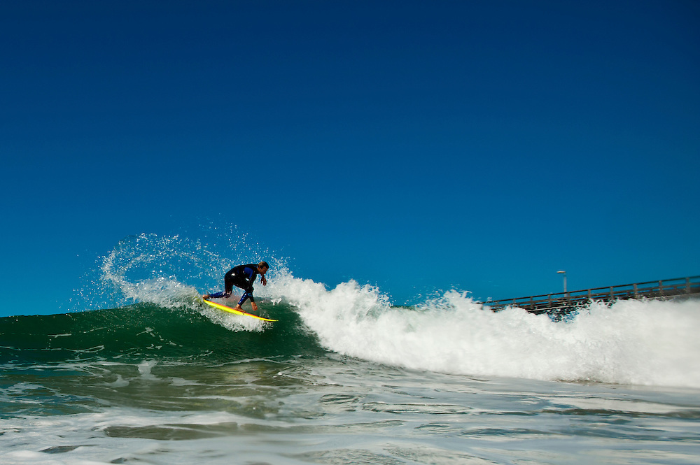 Kaillani Jabour, Ventura County beachbreak.  Aug. 08, 2012.  (Photo by Aaron Schmidt © 2012)