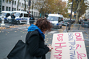 France, Paris, 20 November 2017. National protest by medico-social service workers and students against labor reform.