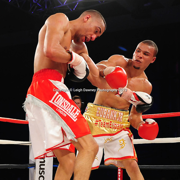 Chris Eubank Jnr defeats Tyan Booth . A Middleweight contest at Glow, Bluewater, Dartford, Kent, UK on 8th June 2013. Promoter: Hennessy Sports. Mandatory Credit: © Leigh Dawney