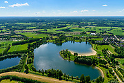 Nederland, Gelderland, Gemeente Aalten, 29-05-2019; Bredevoort, Slingeplas, voormalige zandwinput, nu recreatieplas.  Onderdeel Nationaal Landschap Winterswijk.<br /> Slingeplas, former sand extraction pit, now recreational lake. Part National Landscape Winterswijk.<br /> <br /> luchtfoto (toeslag op standard tarieven);<br /> aerial photo (additional fee required);<br /> copyright foto/photo Siebe Swart