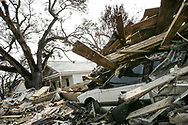 Katrina hurricane aftermath : Coastal city of Biloxi in Mississippi was heavily damaged by storm surge and high winds. 04 September 2005.