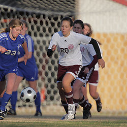 2 December 2008: St. Thomas Aquinas  Margot Waterman (#20) during the St. Thomas Lady Falcons 5-2 loss to Country Day in a non-district soccer match at Falcons Soccer Field in Hammond, LA.