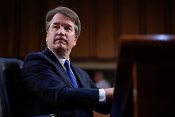 September 4, 2018 - Washington, District of Columbia, U.S. - U.S. Supreme Court Associate Justice nominee BRETT KAVANAUGH gives opening statements during his confirmation hearing before the Senate Judiciary Committee in the Hart Senate Office Building. (Credit Image: © Ken Cedeno/ZUMA Wire)