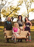 The Cowgirl Chicks pose for an editorial portrait near Fort Worth, Texas.