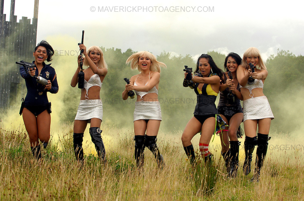 The Lady Boys of Bangkok, performing for their 11th successive Fringe Performance this year, went for a day trip to try their hand at paint ball, at Bedlam paint ball in South Queensferry this afternoon.