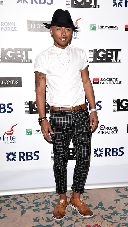 Marcus Collins attends The British LGBT Awards at The Landmark Hotel, London on Friday 24 April 2015