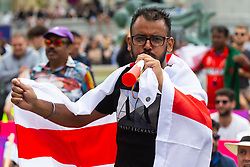 Trafalgar Square in London becomes a Fan Zone as the ICC Cricket World Cup final between England and New Zealand is played at Lords. London, July 14 2019.
