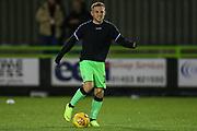 Forest Green Rovers George Williams(11) warming up during the EFL Trophy group stage match between Forest Green Rovers and U21 Arsenal at the New Lawn, Forest Green, United Kingdom on 7 November 2018.