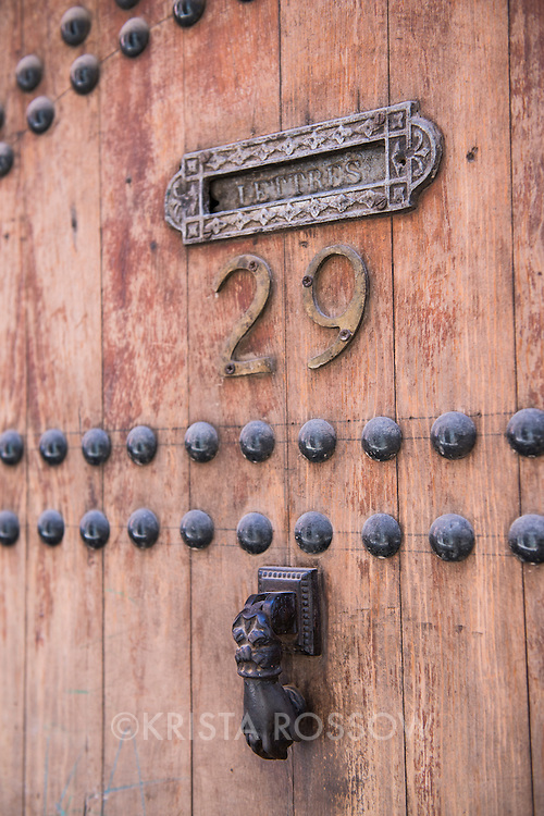 An old door in Marrakesh, Morocco.