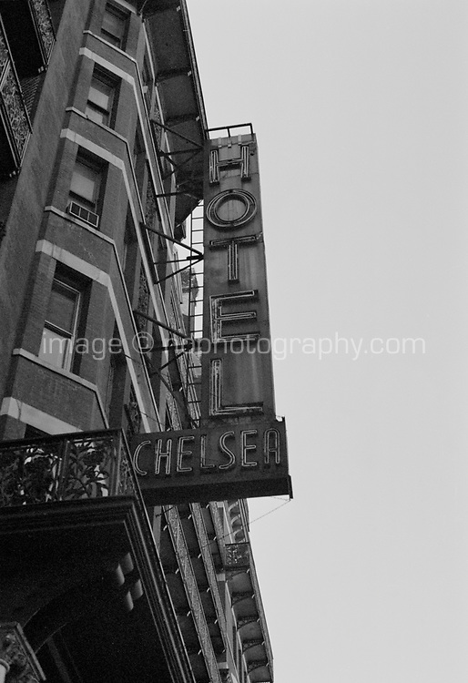 Hotel Chelsea exterior Manhattan New York circa 2000