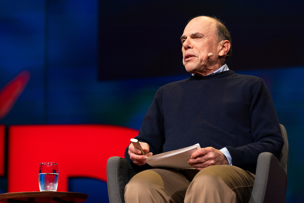 Edward Tenner speaks at TED2019: Bigger Than Us. April 15 - 19, 2019, Vancouver, BC, Canada. Photo: Bret Hartman / TED