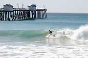 Surfing in San Clemente at the Pier