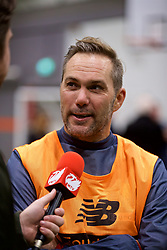 LIVERPOOL, ENGLAND - Wednesday, February 7, 2018: Jason McAteer during a media session at the Liverpool Academy ahead of the LFC Foundation charity match between a Liverpool FC Legends team and FC Bayern Munich Legends. (Pic by David Rawcliffe/Propaganda)