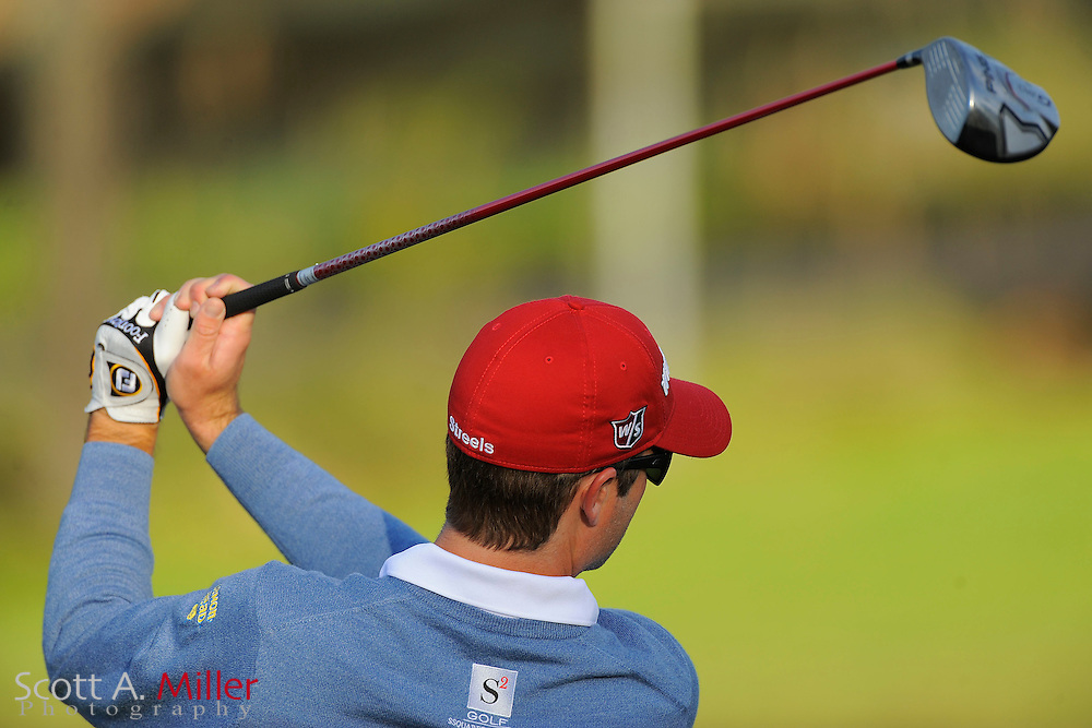 Kevin Streelman on the range prior to the second round of the Farmers Insurance Open on the North Course at Torrey Pines on Jan. 27, 2012 in La Jolla, California. ..©2012 Scott A. Miller