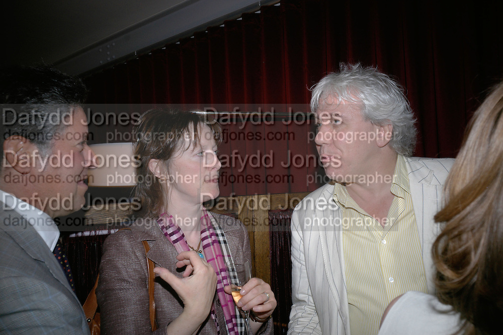 Peter Soros, Rebecca Fitzgerald and Sebastian Shakespeare, Book launch hosted by Geordie Greig for Fulfilment & Betrayal by  Naim Attallah: Bluebird, 350 King's Road, London. 1 May 2007.  -DO NOT ARCHIVE-© Copyright Photograph by Dafydd Jones. 248 Clapham Rd. London SW9 0PZ. Tel 0207 820 0771. www.dafjones.com.