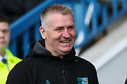 Aston Villa Manager, Dean Smith ahead of the EFL Sky Bet Championship match between Sheffield Wednesday and Aston Villa at Hillsborough, Sheffield, England on 6 April 2019.