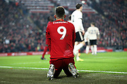 Liverpool forward Roberto Firmino (9) during the Premier League match between Liverpool and Manchester United at Anfield, Liverpool, England on 19 January 2020.