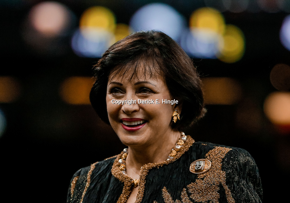 Aug 30, 2018; New Orleans, LA, USA; New Orleans Saints owner Gayle Benson before a preseason game against the Los Angeles Rams at the Mercedes-Benz Superdome. Mandatory Credit: Derick E. Hingle-USA TODAY Sports