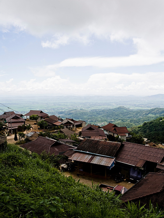 Hill tribe village on the slopes of Doi Tung.