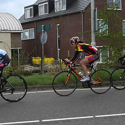 Ronde van Gelderland 2012 (149) Thea Thorensen,  (51) Sabrina Stultiens, (147) Emilie Moberg