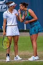 13-06-2019 NED: Libema Open, Rosmalen<br /> Grass Court Tennis Championships / Lesley Kerkhove NED, Bibiane Schoofs NED