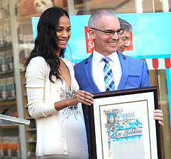 May 4, 2018 - Los Angeles, California, USA - 5/3/18.Zoe Saldana is honored with a Star Ceremony on The Hollywood Walk of Fame..(Los Angeles, CA) (Credit Image: © Starmax/Newscom via ZUMA Press)