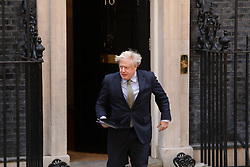 © Licensed to London News Pictures. 13/12/2019. London, UK. Prime Minister Boris Johnson speaks outside 10 Downing Street after winning a majority for the Conservatives in the 2019 General Election. Photo credit: Rob Pinney/LNP
