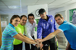 Andreja Klepac, Mitja Dragsic, Gregor Krusic, Marko Milic and Blaz Kavcic at Istenic doubles Tournament and Slovenian Tennis personality of the year 2015 annual awards presented by Slovene Tennis Association TZS, on December 12, 2015 in Millenium Centre, BTC, Ljubljana, Slovenia. Photo by Vid Ponikvar / Sportida