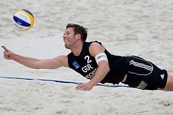David Klemperer of Germany at CEV European Continental Beach Volleyball Cup for Olympic Qualification, on September 4, 2010, in Zrece, Slovenia. (Photo by Matic Klansek Velej / Sportida)
