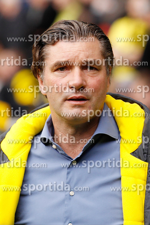 11.04.2015, Borussia Park, Moenchengladbach, GER, 1. FBL, Borussia Moenchengladbach vs Borussia Dortmund, 28. Runde, im Bild Sportdirektor Michael Zorc (Borussia Dortmund) // 15054000 during the German Bundesliga 28th round match between Borussia Moenchengladbach and Borussia Dortmund at the Borussia Park in Moenchengladbach, Germany on 2015/04/11. EXPA Pictures &copy; 2015, PhotoCredit: EXPA/ Eibner-Pressefoto/ Sch&uuml;ler<br /> <br /> *****ATTENTION - OUT of GER*****