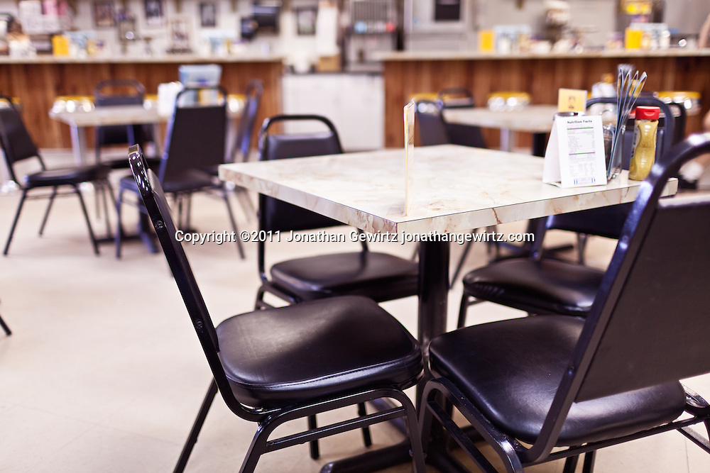 Deli-style restaurant dining room. WATERMARKS WILL NOT APPEAR ON PRINTS OR LICENSED IMAGES.