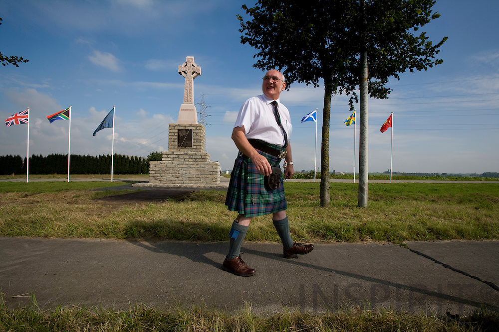 ZONNEBEEK - BELGIUM - 24 AUGUST 2007 -- John SUTHERLAND from York, at the Scottish Monument in Flanders for the fallen Scottish soldiers during First World War. John Sutherland raised money for the monument.  Photo: Erik Luntang