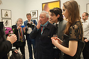 DAVID BAILEY; FENTON BAILEY; SARAH STANBURY, Opening of Bailey's Stardust - Exhibition - National Portrait Gallery London. 3 February 2014