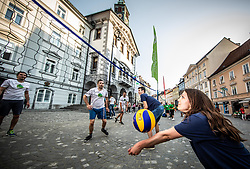 05-06-2019 SLO: EuroVolley 99 days to go, Ljubljana<br /> EuroVolley trophy revealed in Ljubljana with 99 days to go and 99 Mini Volleyball courts were available in Ljubljana downtown to promote the CEV EuroVolley 2019 Men in front of the Town Hall.