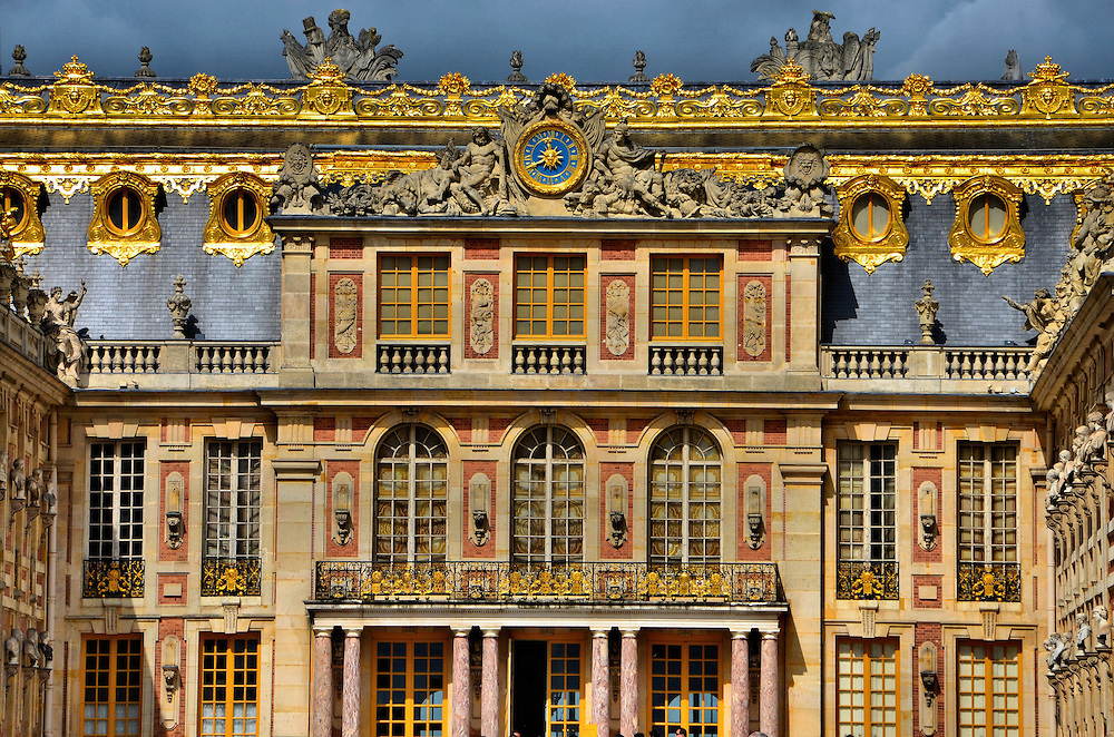 Ch&acirc;teau de Versailles Marble Courtyard in Versailles, France<br />