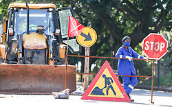 South Africa - Durban -  03 May 2020 -  A cable laying construction company is scrambling to recall workers after a road they were working on, in the Berea, partially collapsed after the rains . Picture Leon Lestrade/African News Agency(ANA)