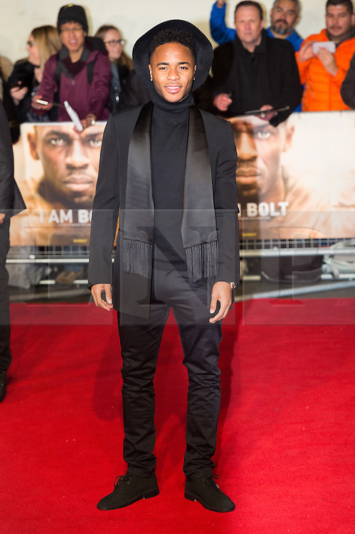 © Licensed to London News Pictures. 28/11/2016. RAHEEM STERLING attend's the I Am Bolt world film premiere. London, UK. Photo credit: Ray Tang/LNP