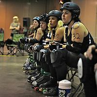 Ohio Roller Girls v. Demolition City Roller Derby..Double header between the Ohio Roller Girls and Demolition City (Evansville, IN)...OHRG's Gang Green took on the Dynamite Dolls..OHRG Charter team battled the Destruction Dames
