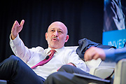 "Chairman and CEO of Goldman Sachs, Lloyd Blankfein, answers questions from the moderator and from the audience during a panel interview at the annual meeting for ""sifma"", The Securities Industry and Financial Markets Association."