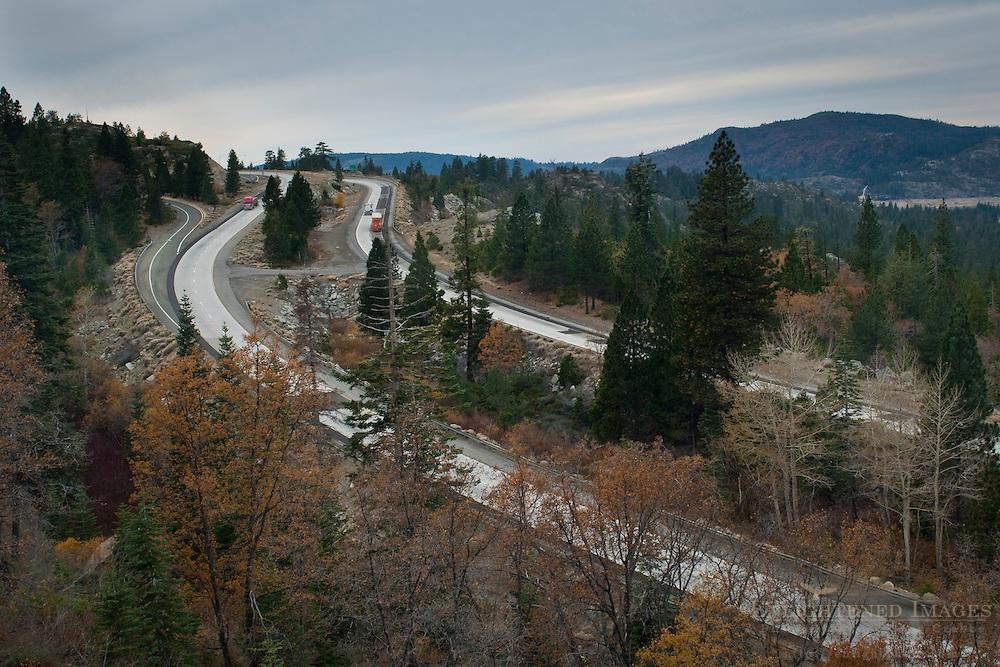 Interstate Highway 80 through the Sierra near Emigrant Gap, California