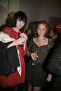 Kiera Gormley and Lily Cole, Vogue 90th birthday party and to celebrate the Vogue List, Serpentine Gallery. London. 8 November 2006. ONE TIME USE ONLY - DO NOT ARCHIVE  © Copyright Photograph by Dafydd Jones 66 Stockwell Park Rd. London SW9 0DA Tel 020 7733 0108 www.dafjones.com