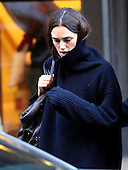 Keira Knightley feels the cold in New York