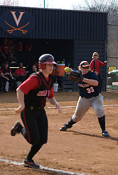 Virginia Cavaliers C/INF Kelly Haller (33) in action against UMD.  The Virginia Cavaliers softball team fell to the Maryland Terrapins 8-3 in the second game of a doubleheader at The Park in Charlottesville, VA on March 24, 2007.