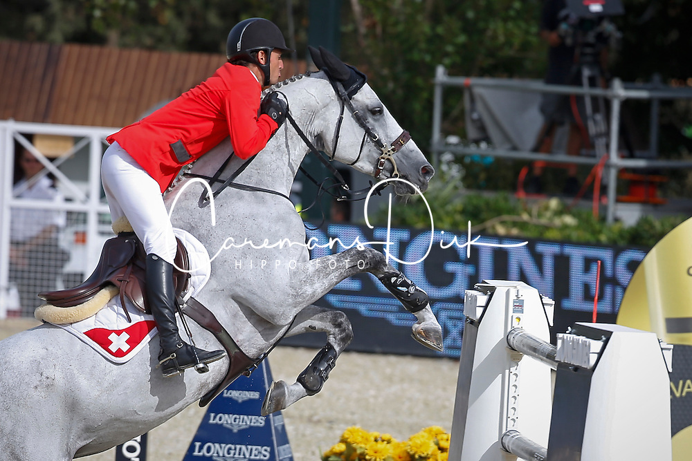 Guerdat Steve (SUI) - Nasa<br /> Furusiyya FEI Nations Cup Jumping Final Round 1<br /> CSIO Barcelona 2013<br /> © Dirk Caremans