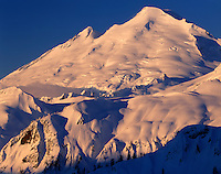 Winter dawn on Mount Baker, North Cascades Washington USA