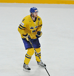 11.05.2013, Globe Arena, Stockholm, SWE, IIHF, Eishockey WM, Schweden vs Slowenien, im Bild Sverige Sweden 4 Staffan Kronwall // during the IIHF Icehockey World Championship Game between Sweden and Slovenia at the Ericsson Globe, Stockholm, Sweden on 2013/05/11. EXPA Pictures © 2013, PhotoCredit: EXPA/ PicAgency Skycam/ Simone Syversson..***** ATTENTION - OUT OF SWE *****