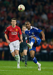 MOSCOW, RUSSIA - Wednesday, May 21, 2008: Chelsea's Florent Malouda during the UEFA Champions League Final against Manchester United at the Luzhniki Stadium. (Photo by David Rawcliffe/Propaganda)
